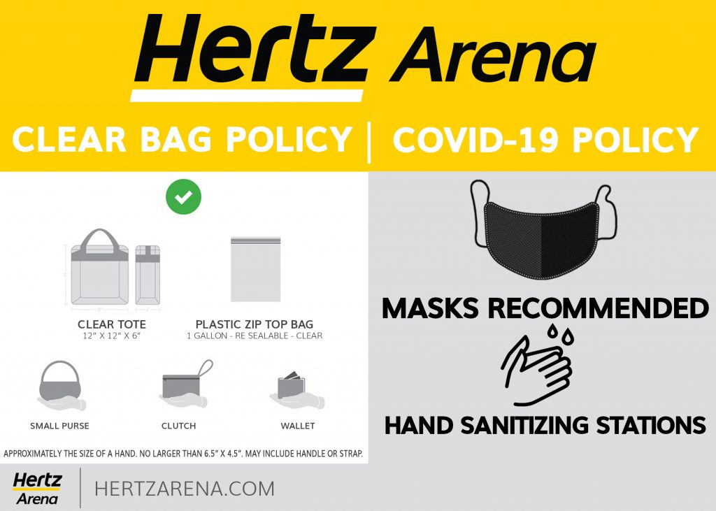 Hertz Arena Clear Bag Policy Covid 19 Policy Clear Tote 12 x 12 x 6 Plastic Zip Top Bag 1 Gallon Resealable Clear Small Purse Clutch Wallet Approximately the size of a hand no larger than 6.5